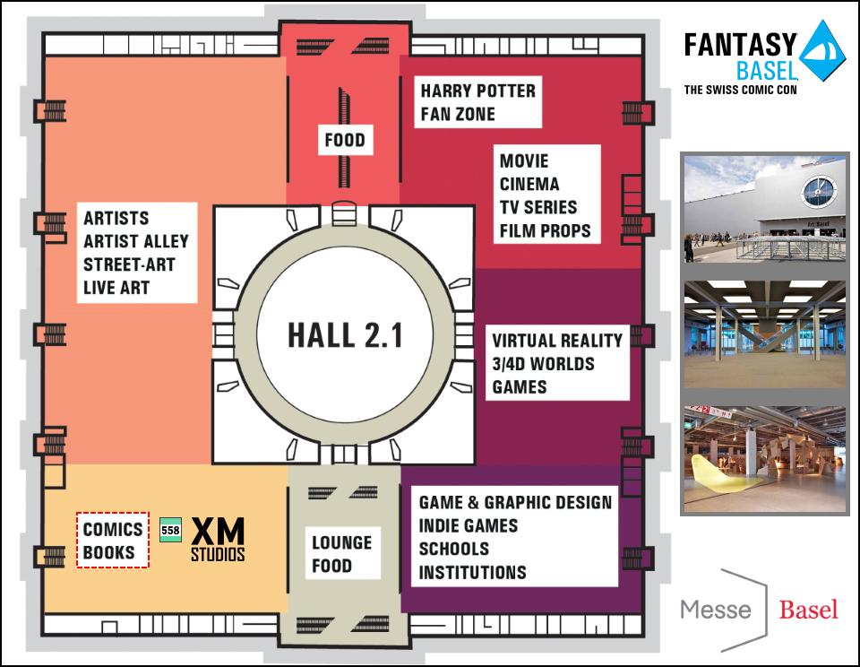 XM Studios: Coverage Fantasy Basel 2019 - May 3rd to 5th   Basel960Hall2