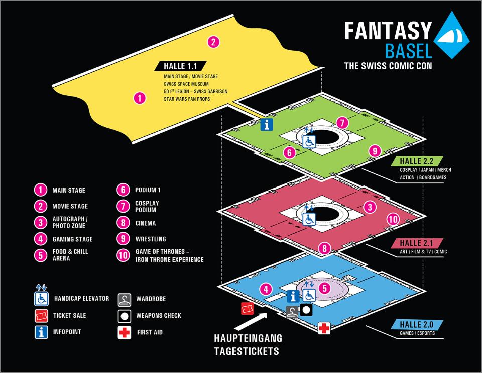 XM Studios: Coverage Fantasy Basel 2019 - May 3rd to 5th   Basel960Hall2Detail