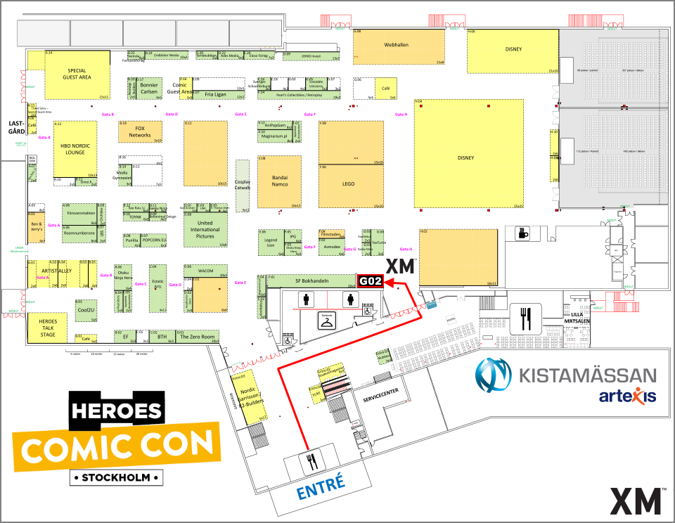 XM Studios: Coverage Comic Con Stockholm 2019 - September 13th to 15th  Stockholm960Hall1BoothG02